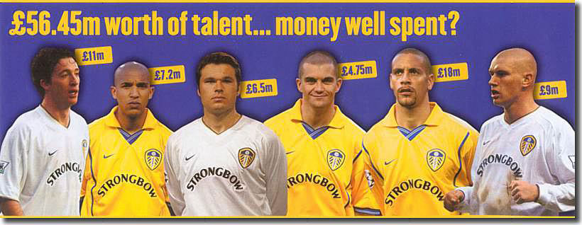 A selection of big money player purchases eventually caused Leeds United to totter towards bankruptcy