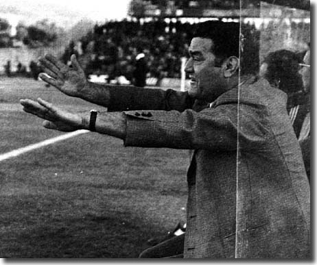 Torino manager Nereo Rocco, who led Milan to European Cup triumph in 1963