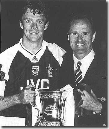 O'Leary as a Cup winner with George Graham at Arsenal