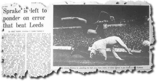 The Guardian of 29 April 1968 features the weekend's Cup semi final between Everton and Leeds - Gordon West is pictured foiling Mick Jones