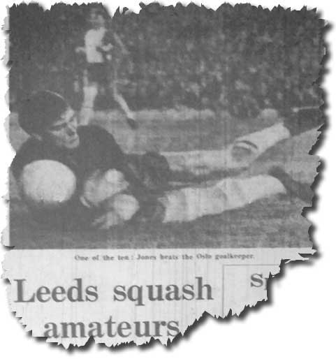 The Guardian of 18 September 1969 features United's thrashing of Lyn Oslo the previous day with keeper Olsen being beaten by one of Jones' three goals