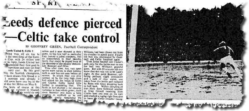 The Times of 2 April 1970 features the previous day's big clash
