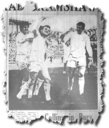 Yorkshire Evening Post of 9 October 1967 carrying the news of Billy Bremner's triumphant performance in the thrashing of Chelsea - Lorimer, Greenhoff and Jones are the other United men in the picture