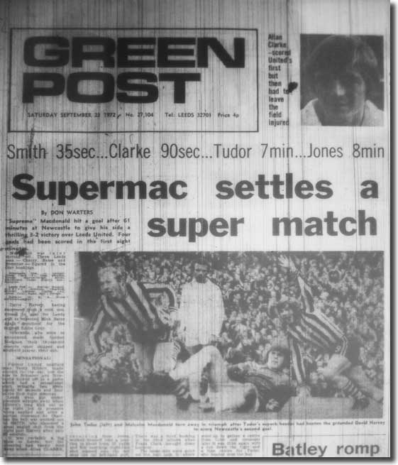 The Yorkshire Evening Post of 23 September 1972 carries the news of an extraordinary game