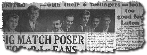 The United teenagers were the talk of the country - here the Yorkshire Evening Post pictures Bremner, Sprake, Reaney, Don Revie, Addy, Hunter and Johnson