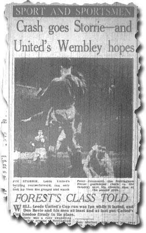 Yorkshire Evening Post 20 March - the end of the FA Cup road for Leeds
