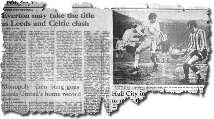 The Yorkshire Post of 30 March features Leeds' home defeat against Southampton, which meant that Everton were almost certainly champions