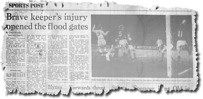 The Yorkshire Post of 28 March 1972 features the previous evening's game