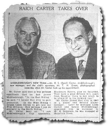 Yorkshire Post January 22 1963 - Raich Carter after being appointed Middlesbrough boss