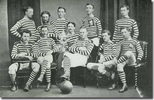 The Queen's Park side with the Scottish Cup in 1874