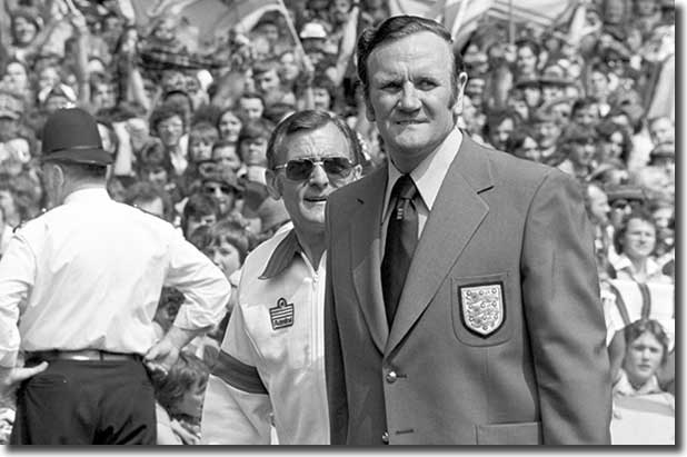 Don Revie and trainer Les Cocker during their time with the England team - Revie's stay at Lancaster Gate was regularly punctuated by disputes with Hardaker