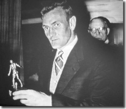 Don Revie with the Footballer of the Year trophy he won in 1955