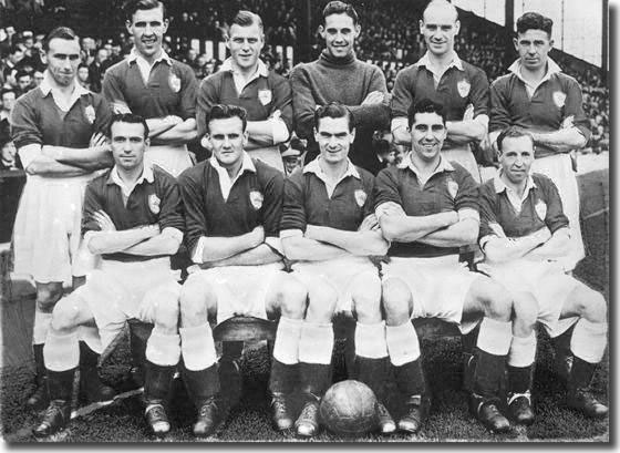The Leicester City line up in 1949-50 with Don Revie seated second from the left