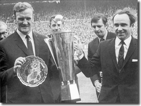 Don Revie receives the Manager of the Year Award before the match