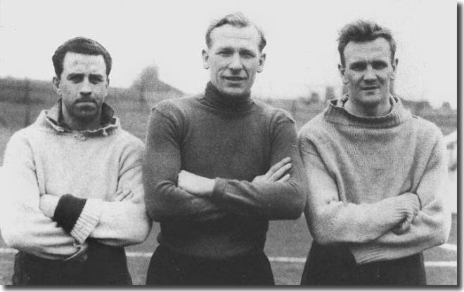 Roy Paul (left) was an international with Swansea when John Charles arrived at the club.  Paul is here seen with goalkeeper Bert Trautmann and Don Revie, later Charles' manager at Leeds, while the trio were together at Manchester City