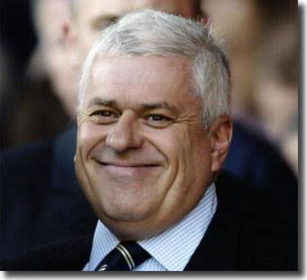 Peter Ridsdale was all smiles as Leeds advanced on all fronts