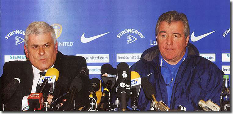 By the time of this irritable press conference the eyes and the body language said it all for Peter Ridsdale and Terry Venables - this is the end