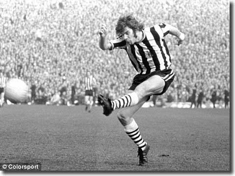 Supermac, Malcolm Macdonald, in typical all action pose, scored the winner but didn't have that great a game