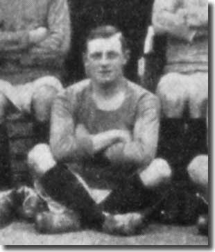 Ted Hamilton in a City team group in 1909