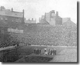 The Valley Parade stadium in 1908 - the picture was taken after significant improvement work was carried out at the ground